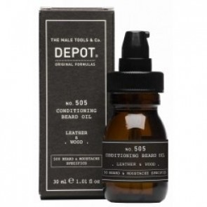 Depot No. 505 Conditioning Beard Oil Leather & Wood 30 ml