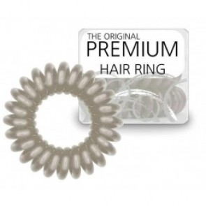 Original Hair Ring Silver Stone 3 Stk